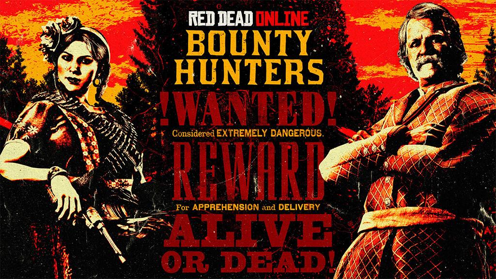 red dead online охотник за головами