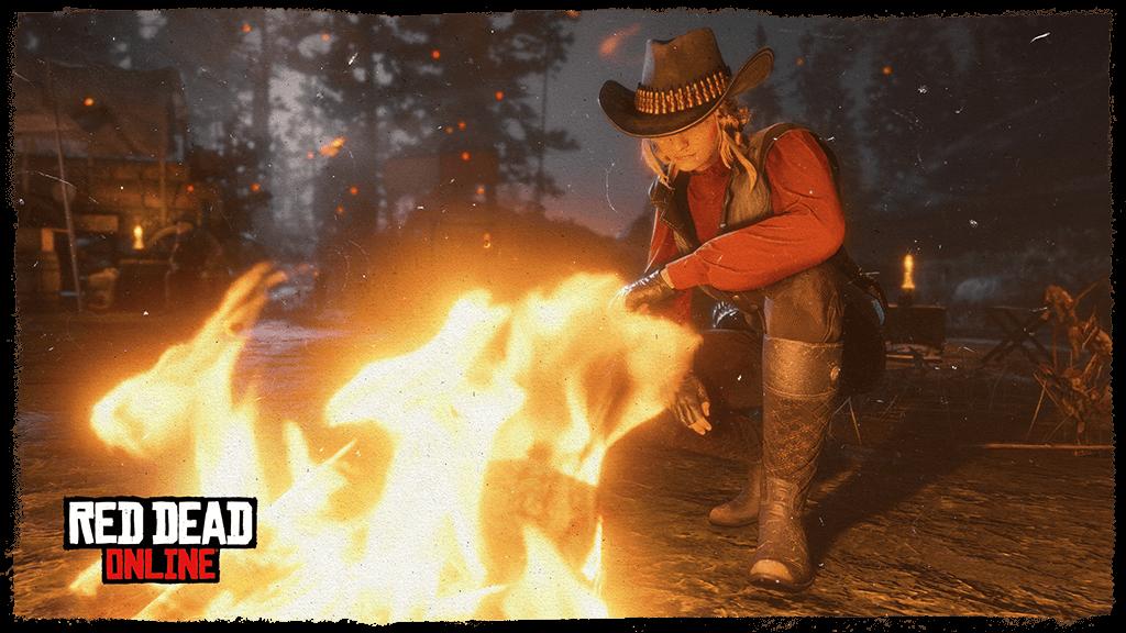 red dead online лагерь